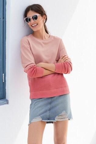 Pink Dip Dye Sweatshirt