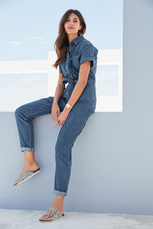 Dark Blue Denim Boiler Jumpsuit