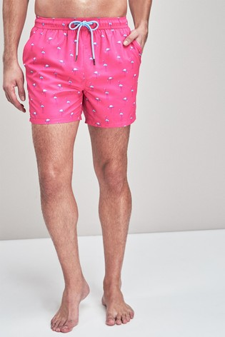 c789a76bf52 Pink Flamingo Print Swim Shorts