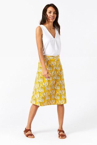 348dc1c7ee Buy White Stuff Yellow Namibia Reversible Skirt from Next Germany