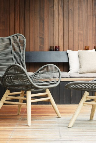 Buy Bali Garden Chair And Footstool from Next Bahrain