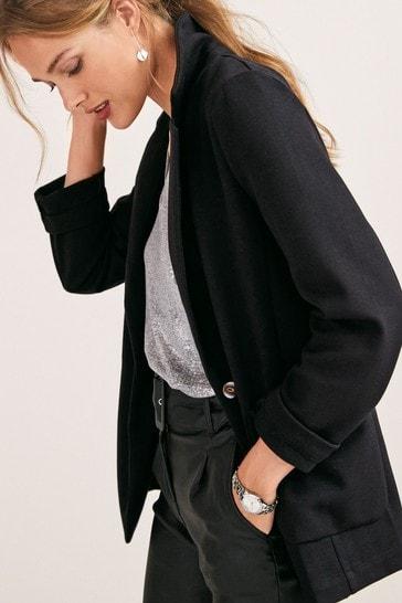 Black Single Breasted Blazer