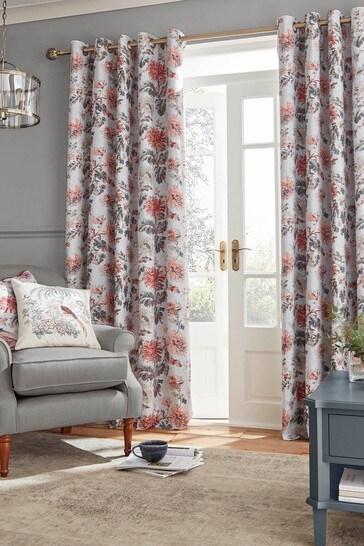 Crimson Maryam Eyelet Curtains