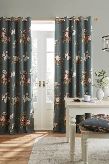 Fern Green Rosemore Eyelet Curtains