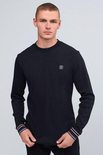 Black Long Sleeve Turtle Neck T-Shirt