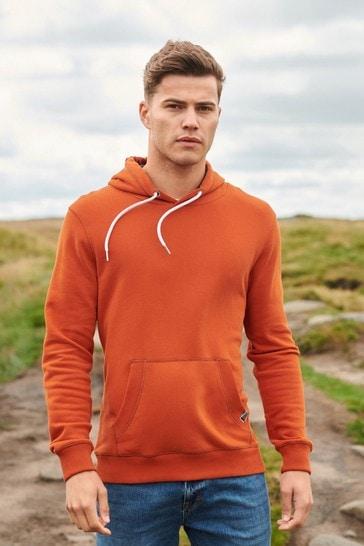Rust Orange Mr Blue Sky Organic Cotton Hoodie