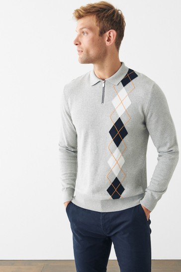 Premium Long Sleeved Knitted Polo
