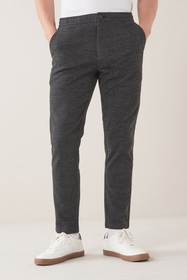 Charcoal Grey Slim Fit Cotton Chino Trousers