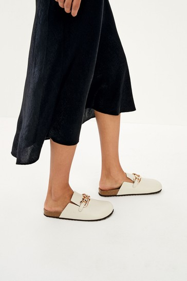 Taupe Forever Comfort® Closed Toe Footbed Mules