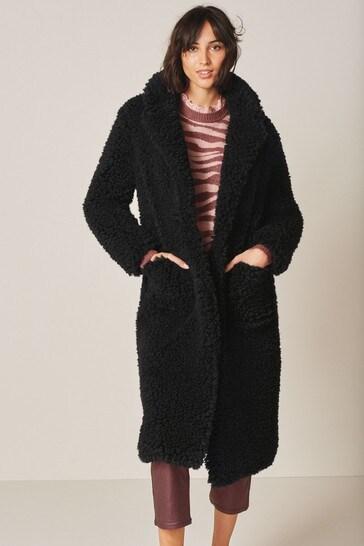 Black Long Borg Coat