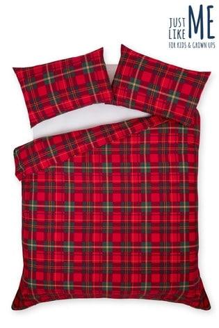 Brushed Cotton Tartan Check Bed Set