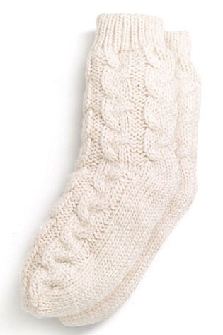 Buy Cream Cable Knitted Bed Socks From Next Ireland