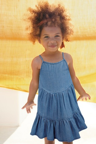 Denim Tiered Cotton Sundress (3mths-7yrs)