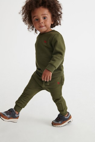 Khaki Crew and Joggers Jersey Set (3mths-7yrs)