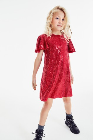 Red Sparkle Dress (3-16yrs)