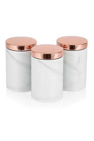 Set of 3 Marble Storage Jars by Tower