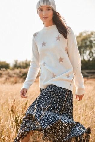 Ecru Sparkle Star Tunic