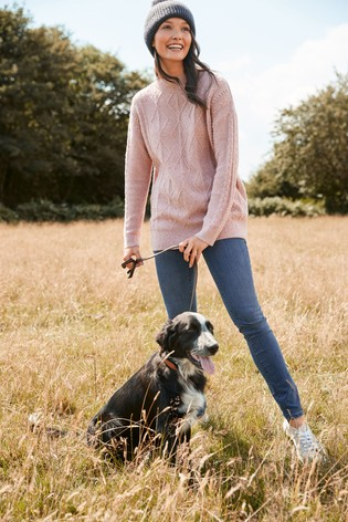 Pink Sparkle Cable Tunic