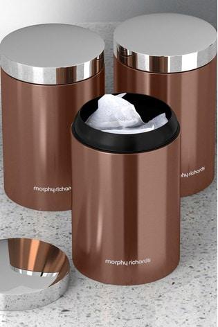 Set of 3 Copper Storage Jars by Morphy Richards