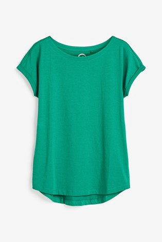Teal Cap Sleeve T-Shirt