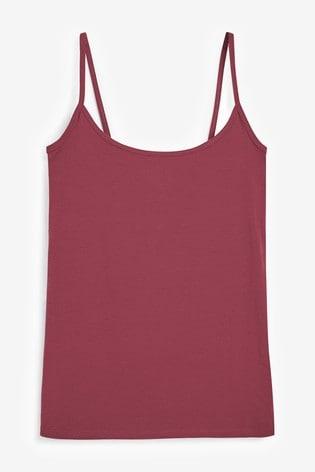 Berry Thin Strap Vest