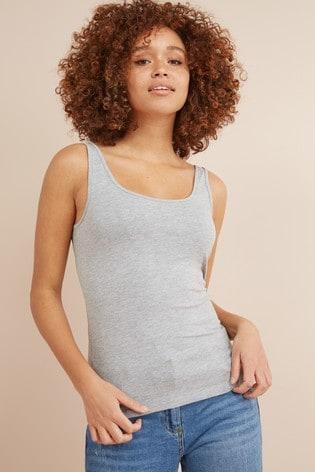 Grey Marl Thick Strap Vest