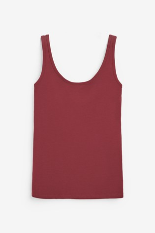 Berry Thick Strap Vest