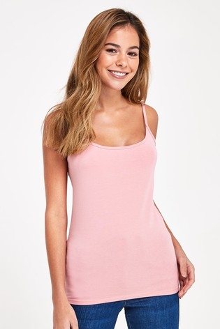 Baby Pink Thin Strap Vest
