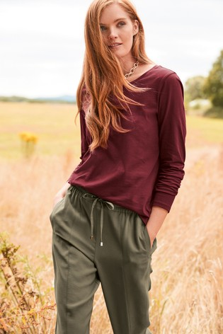 Berry Long Sleeve Top