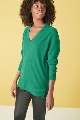 Green Long Cosy Tunic