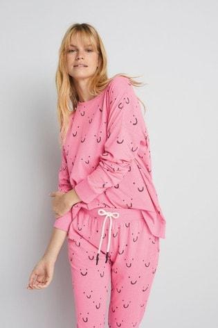 Pink Smiles Cotton Pyjamas