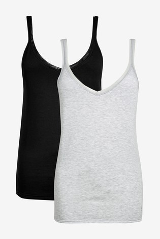 Black/Grey Next Thermogen Vest Tops Two Pack