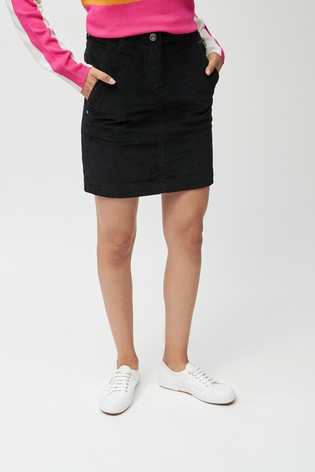 Black Cord Mini Skirt