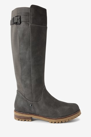 Grey Regular/Wide Fit Forever Comfort® Chunky Knee High Boots