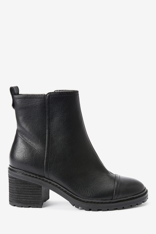 Black Forever Comfort® Cleat Heel Boots