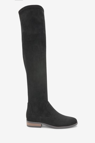 Black Forever Comfort® Flat Over The Knee Boots