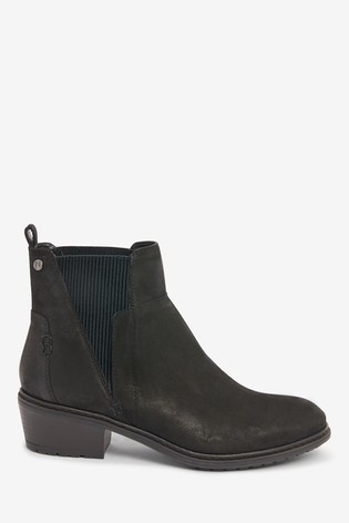 Black Forever Comfort® Ribbed Elastic Chelsea Boots