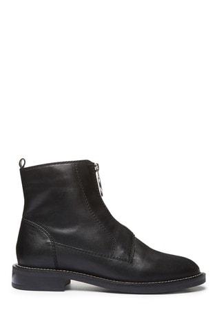 Black Signature Zip Boots