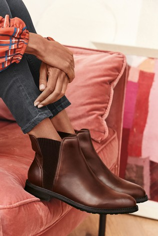 Tan Forever Comfort® Leather Chelsea Boots