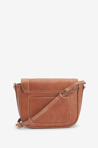 Tan Leather Hummingbird Saddle Bag