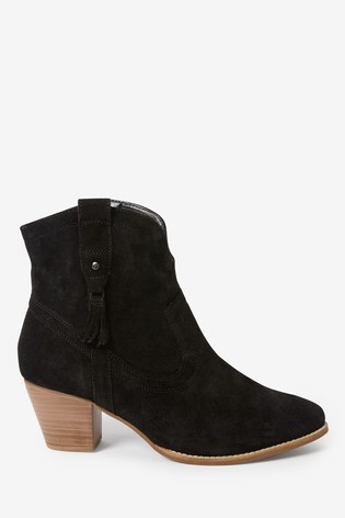 Black Forever Comfort® Western Ankle Boots