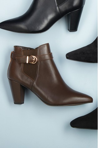 Chocolate Regular/Wide Fit Forever Comfort® Leather Shoe Boots