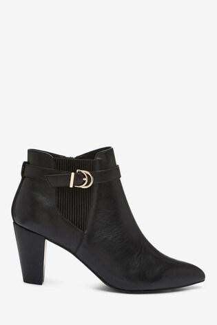Black Regular/Wide Fit Forever Comfort® Leather Shoe Boots