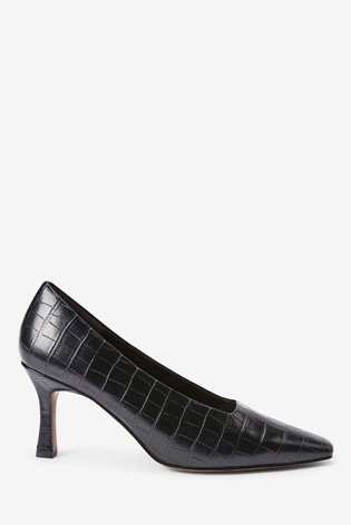 Buy Black Curvy Heel Court Shoes from