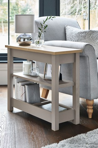 Malvern Dove Grey Sofa Side Table