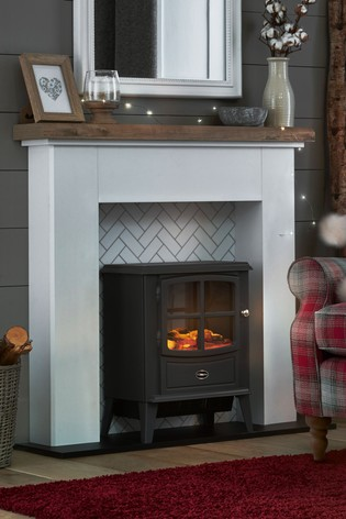 Tiled Effect Fire Surround