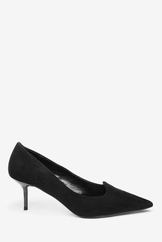 Buy Black Kitten Heel Court Shoes from