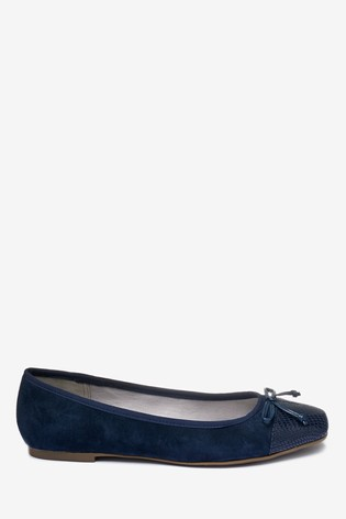 Navy Toe Cap Forever Comfort® Ballerina Shoes