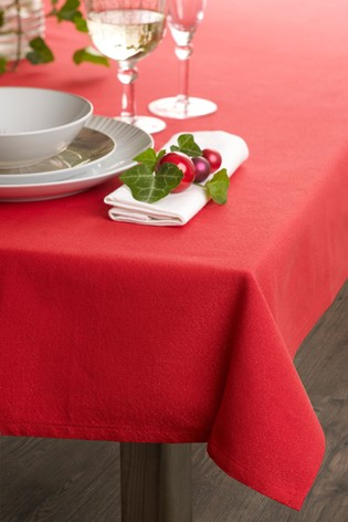 Red Metallic Table Cloth