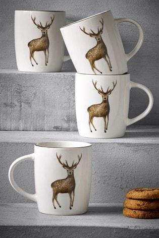 Set of 4 Audley Mugs